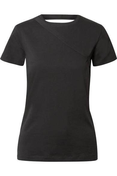 Helmut Lang T-Shirt aus Jersey aus Stretch-Baumwolle mit freier Rückenparie