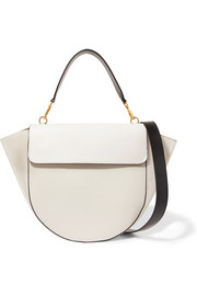 Wandler Hortensia smooth and textured-leather shoulder bag