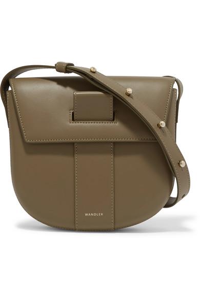 Wandler - Miles Leather Shoulder Bag - Army green