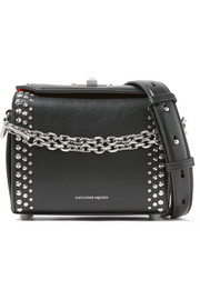 Box Bag 19 studded leather shoulder bag