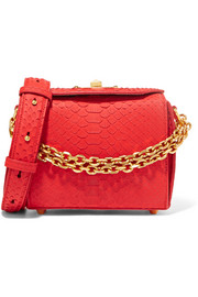 Box Bag 16 small python shoulder bag