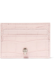 Alexander McQueen Croc-effect leather cardholder