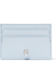 Alexander McQueen Embellished textured-leather cardholder