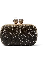 Alexander McQueen Queen & King embellished leather clutch