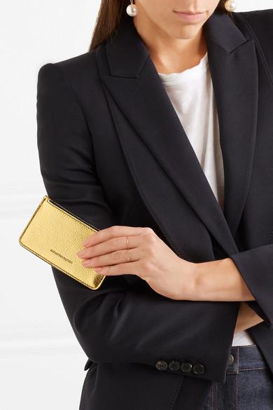 Alexander McQueen Kartenetui aus strukturiertem Metallic-Leder Billig Verkauf Sneakernews 6QXuynLh