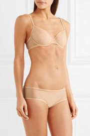 Sheer Marquisette stretch-mesh briefs