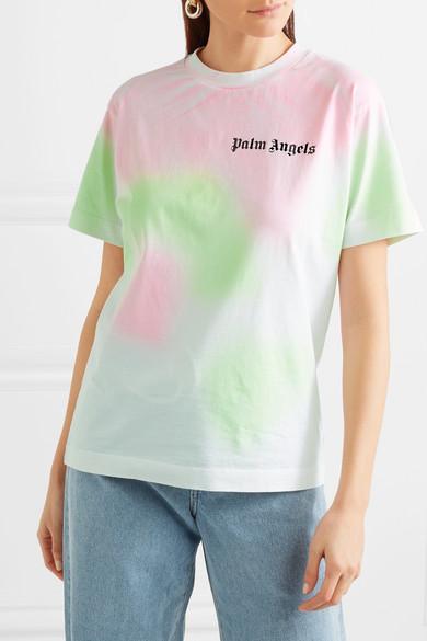 Palm Angels T-Shirt aus Baumwoll-Jersey mit Batikmuster