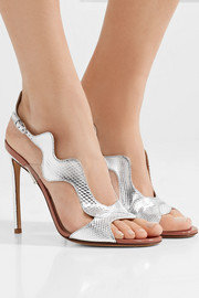 PVC-trimmed metallic karung sandals