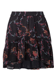 IRO Lilie printed georgette mini skirt