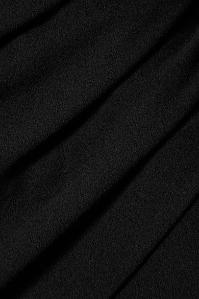 IRO Davov Minikleid aus Crêpe mit asymmetrischer Schulterpartie und Raffung