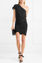 IRO Davov one-shoulder ruched crepe mini dress