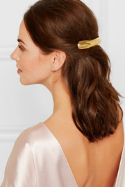 Shell gold-plated hairclip