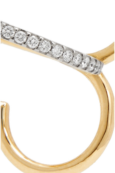 Charlotte Chesnais Clover 18-karat Yellow And White Gold Diamond Earring fbWqJz09