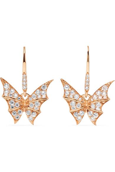 1304862f5b04 Stephen Webster Fly By Night 18-Karat Rose Gold Diamond Earrings ...