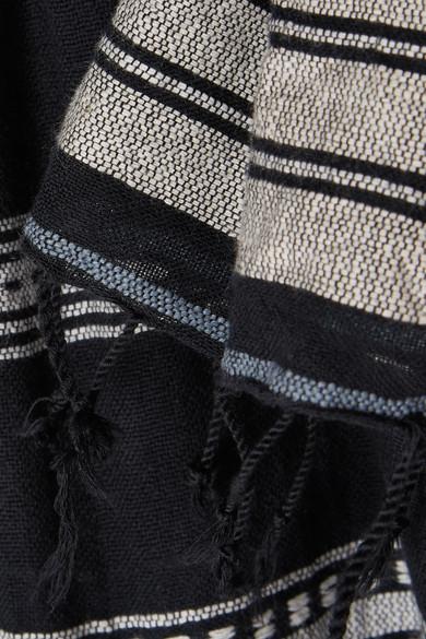 LemLem Kal schulterfreies Minikleid aus gestreifter Gaze aus einer Baumwollmischung