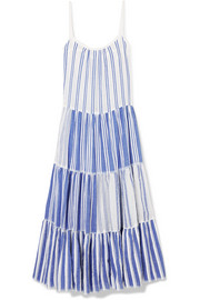 LemLem Alfie tiered striped cotton-voile maxi dress