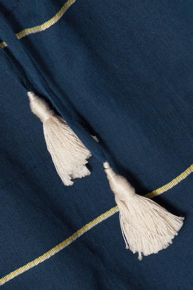 LemLem Uju gestreiftes Kleid aus Baumwoll-Voile