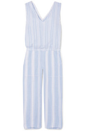 LemLem Kal cropped striped cotton-gauze jumpsuit
