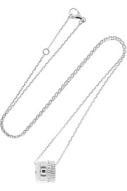 Quatre Radiant Edition 18-karat white gold diamond necklace
