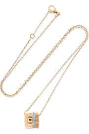 Quatre Radiant Edition 18-karat yellow and white gold diamond necklace
