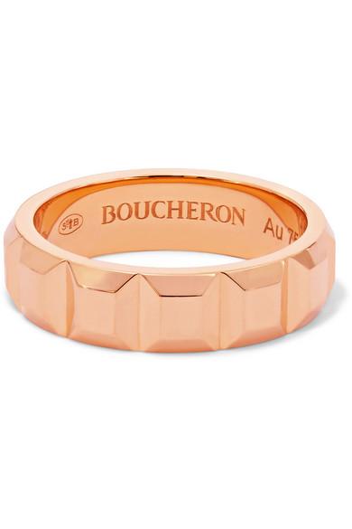 Boucheron Quatre Clou De Paris 18-karat rose gold ring
