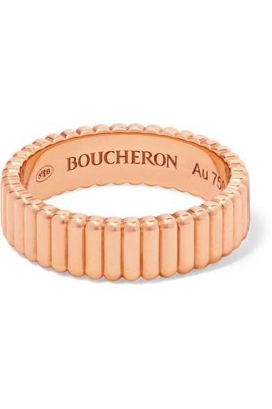 Boucheron QUATRE GROSGRAIN 18-KARAT ROSE GOLD RING