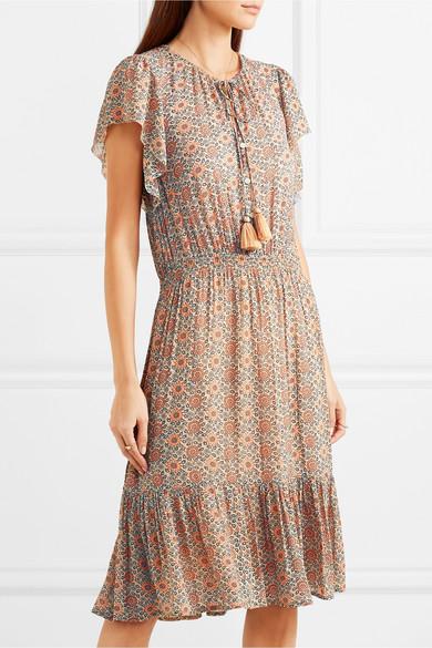 Vanessa Bruno Iasy Kleid aus Georgette mit floralem Print