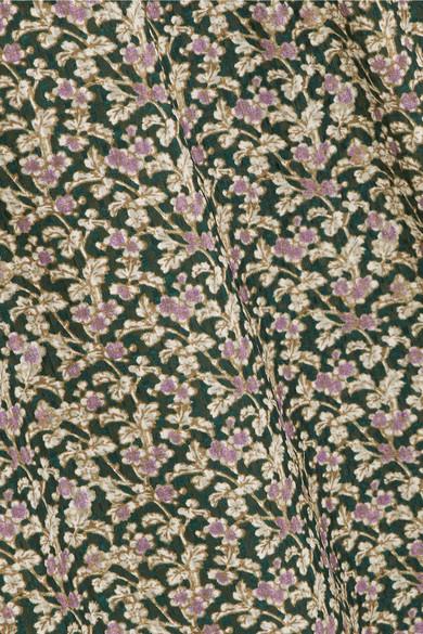 Vanessa Bruno Ijka Maxikleid aus Seiden-Georgette mit floralem Print