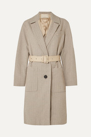 Iambo belted cotton-tweed coat