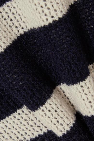 Vanessa Bruno Izara gestreifter Pullover aus einer Woll-Kaschmirmischung in Waffelstrick
