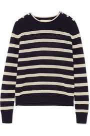 Vanessa Bruno Izara striped waffle-knit wool and cashmere-blend sweater
