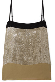 Vanessa Bruno Isile sequined chiffon camisole