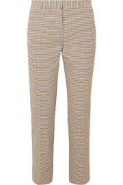 Moustique cotton-tweed straight-leg pants