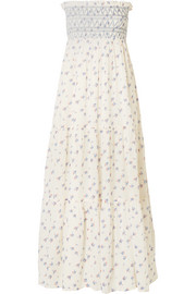 Vanessa Bruno Embroidered printed cotton-gauze maxi dress