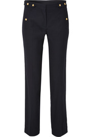 Issi cotton-blend twill straight-leg pants