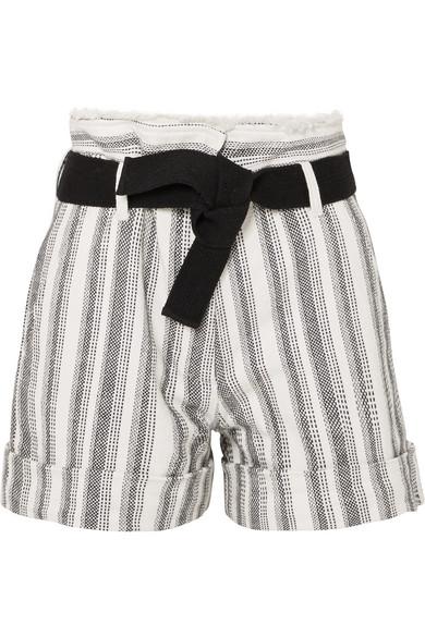 Vanessa Bruno Ezed Shorts aus Baumwoll-Canvas mit Gürtel