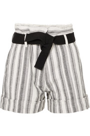 Vanessa Bruno Ezed belted striped cotton-canvas shorts
