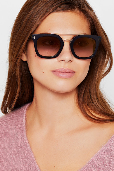 86fb030cff TOM FORD. Square-frame acetate and gold-tone sunglasses. £171. Zoom In