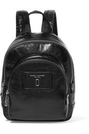 Mini Double glossed-leather backpack