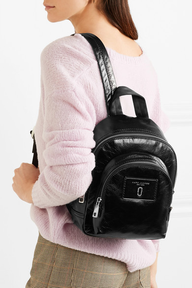 Marc Jacobs Mini Double Backpack From Patent Leather
