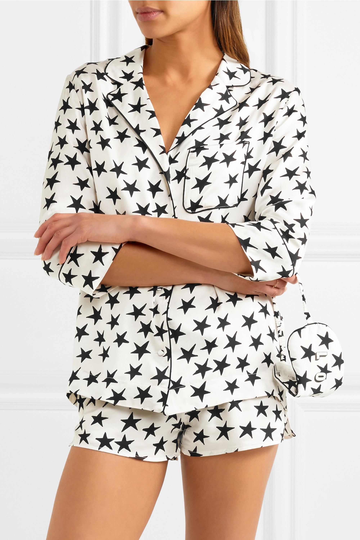 Love Stories Jude L and Sunday printed satin pajama set