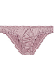 Lolita embroidered stretch-satin briefs