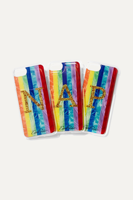 Edie Parker + goo.ey Rainbow printed plastic iPhone 6 and 7 case