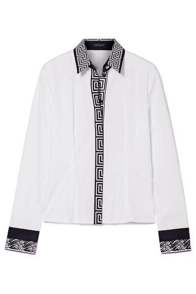 Versace Bedrucktes Hemd aus Baumwollpopeline