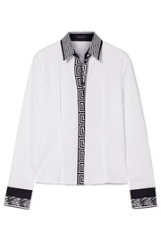 Versace Printed cotton-poplin shirt