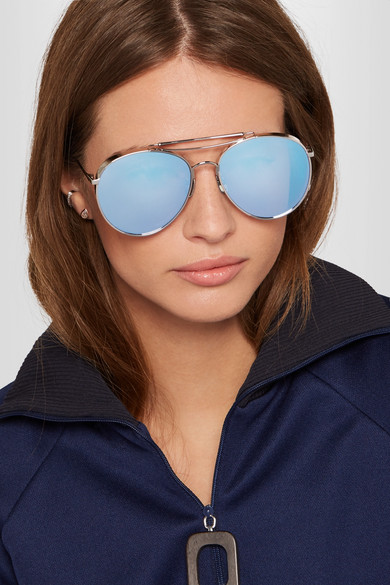 a6e490788f Gentle Monster. Big Bully aviator-style silver-tone mirrored sunglasses.  £245. Zoom In