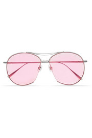 Jumping Jack aviator-style silver-tone sunglasses