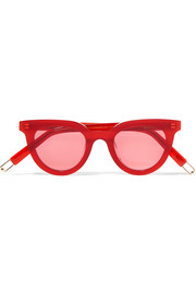 + Tilda Swinton Eye Eye D-frame acetate sunglasses