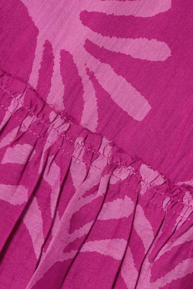 APIECE APART Izza Wabi bedrucktes Oberteil aus einer Baumwoll-Seidenmischung
