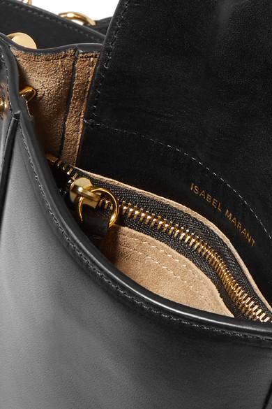 Isabel Marant Nasko Schultertasche aus Leder mit Nieten